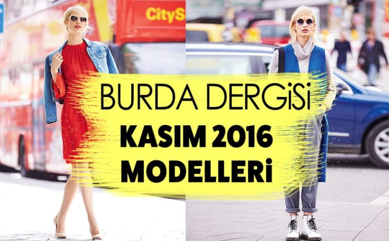 Burda Dergisi Kasım Modelleri