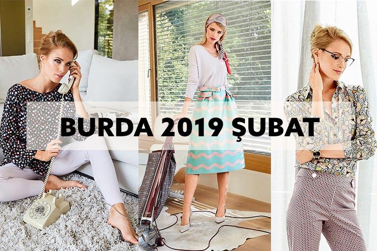 82e99ad434012 Burda Dergisi 2019 Şubat Modelleri Teknik Çizimleriyle | Hobim Dikiş